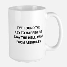 Key To Hapiness Large Mug