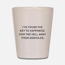 Key To Hapiness Shot Glass