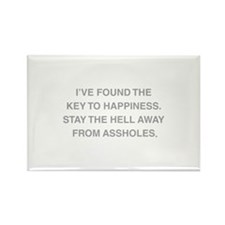 Key To Hapiness Rectangle Magnet