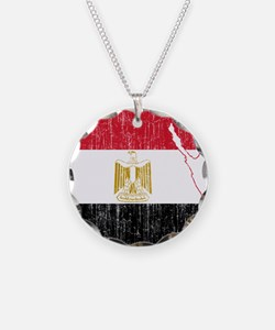 Egypt Flag And Map Necklace