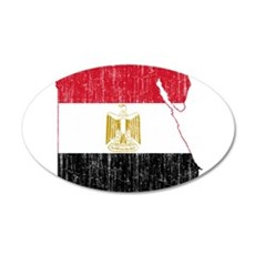 Egypt Flag And Map Wall Decal