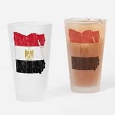 Egypt Flag And Map Drinking Glass