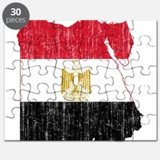 Egypt Flag And Map Puzzle