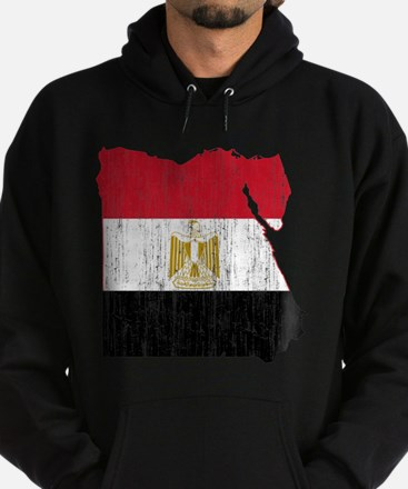 Egypt Flag And Map Hoodie (dark)