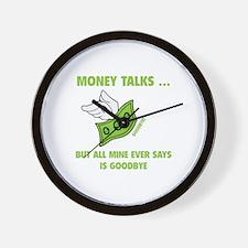 Money Talks Wall Clock
