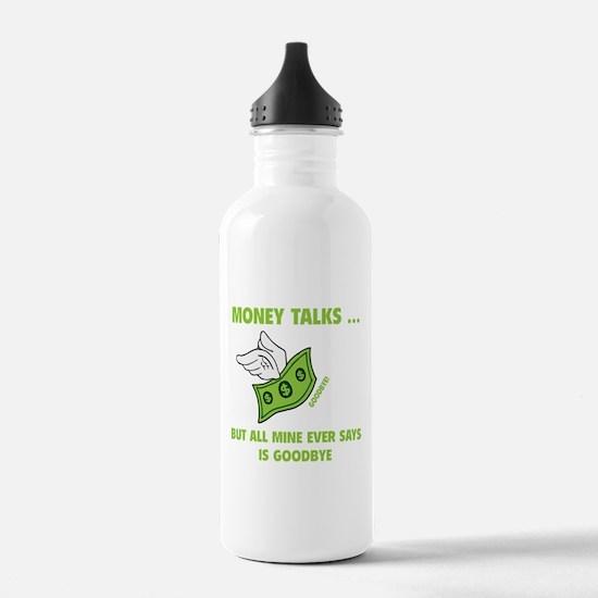 Money Talks Water Bottle