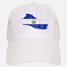 El Salvador Flag And Map Baseball Baseball Cap