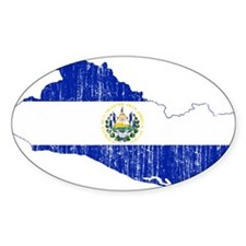 El Salvador Flag And Map Decal