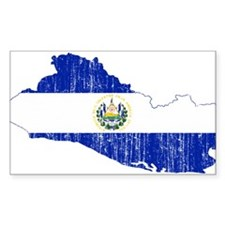 El Salvador Flag And Map Decal