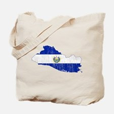 El Salvador Flag And Map Tote Bag