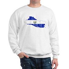 El Salvador Flag And Map Sweatshirt