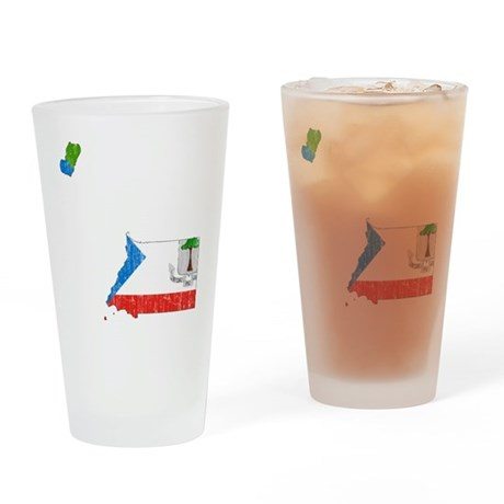 Equatorial Guinea Flag And Map Drinking Glass
