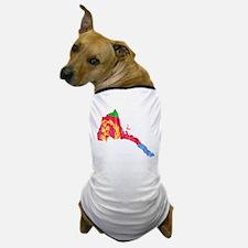 Eretria Flag And Map Dog T-Shirt