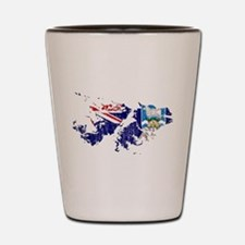 Falkland Islands Flag And Map Shot Glass