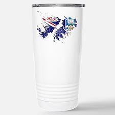 Falkland Islands Flag And Map Travel Mug