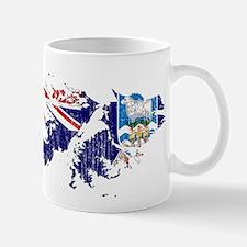 Falkland Islands Flag And Map Mug