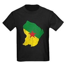 French Guiana Flag And Map T