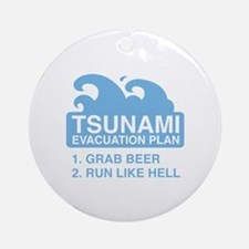 Tsunami Evacuation Plan Ornament (Round)