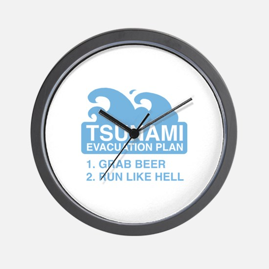 Tsunami Evacuation Plan Wall Clock