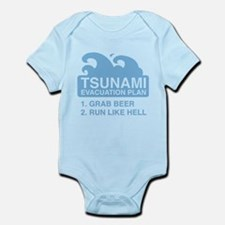 Tsunami Evacuation Plan Infant Bodysuit