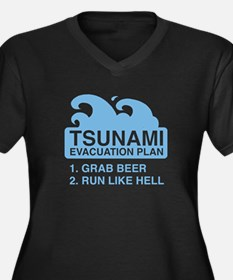 Tsunami Evacuation Plan Women's Plus Size V-Neck D