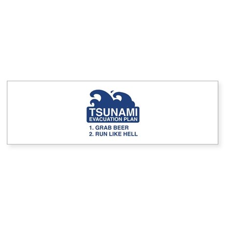 Tsunami Evacuation Plan Sticker (Bumper 50 pk)