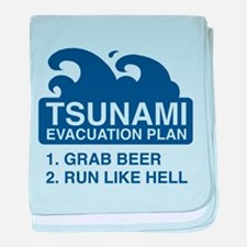 Tsunami Evacuation Plan baby blanket
