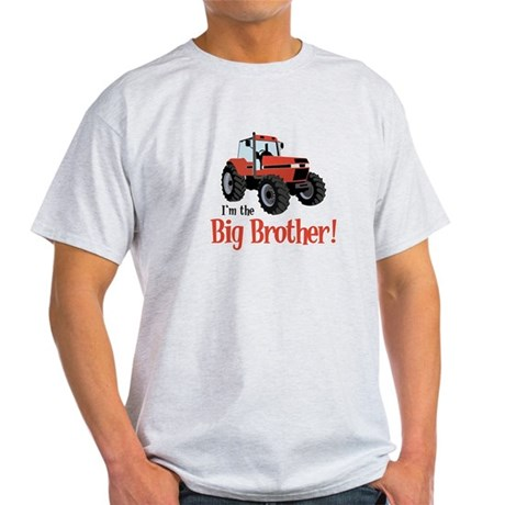 Red Tractor Im the Big Brother Light T-Shirt