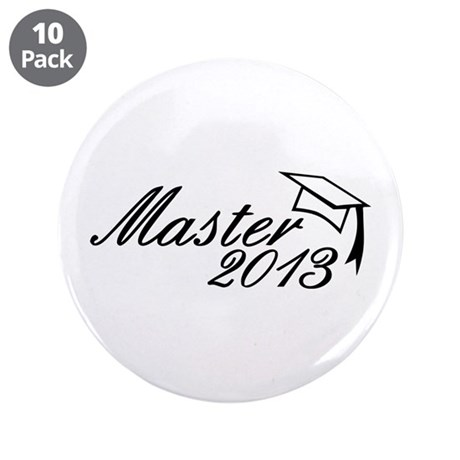 "Master 2013 3.5"" Button (10 pack)"