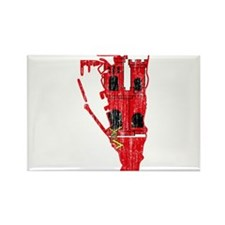 Gibraltar Flag And Map Rectangle Magnet