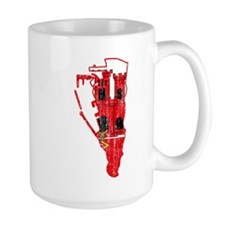 Gibraltar Flag And Map Mug