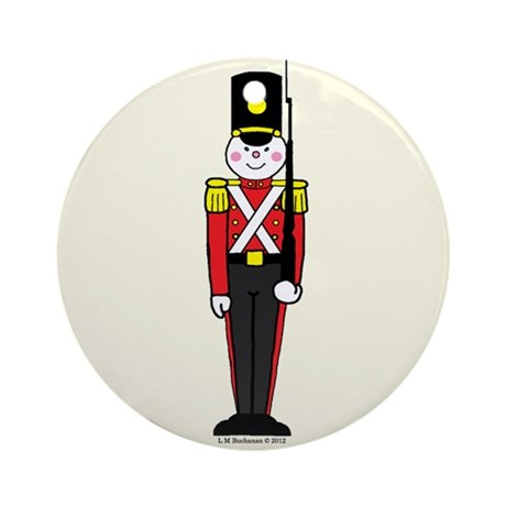 Toy Soldier in Red and Black Ornament (Round)