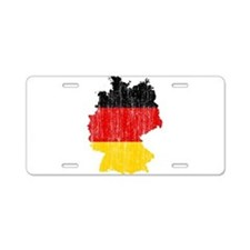 Germany Flag And Map Aluminum License Plate