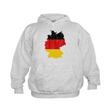 Germany Flag And Map Hoodie