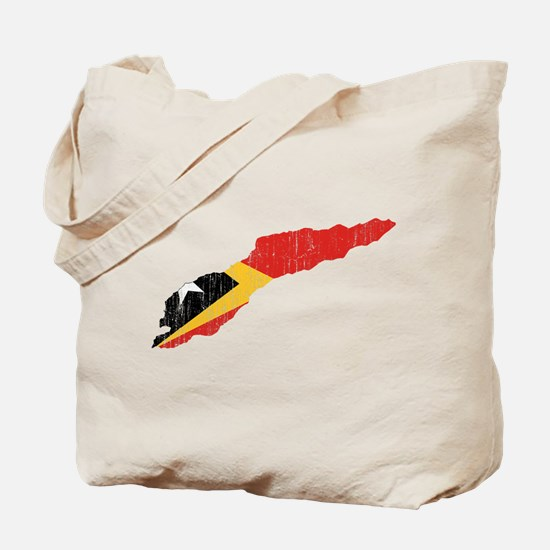 Great Timor Flag And Map Tote Bag