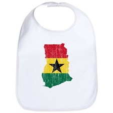 Ghana Flag And Map Bib