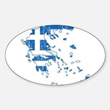 Greece Flag And Map Decal