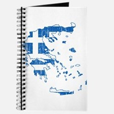 Greece Flag And Map Journal