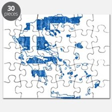 Greece Flag And Map Puzzle