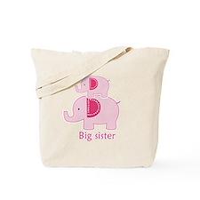 Big Sister Pink Elephant Tote Bag