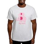 Big Sister Pink Elephant Light T-Shirt