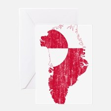 Greenland Flag And Map Greeting Card