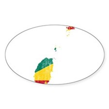 Grenada Flag And Map Decal
