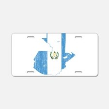Guatemala Flag And Map Aluminum License Plate