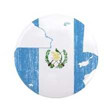 "Guatemala Flag And Map 3.5"" Button"
