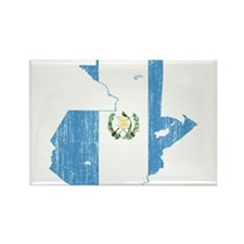 Guatemala Flag And Map Rectangle Magnet