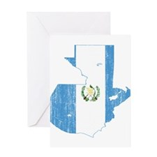 Guatemala Flag And Map Greeting Card