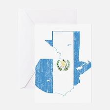 Guatemala Flag And Map Greeting Card