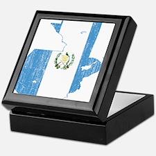Guatemala Flag And Map Keepsake Box