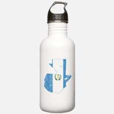 Guatemala Flag And Map Water Bottle